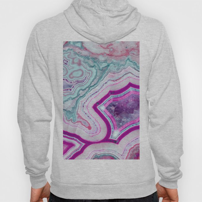 Cotton Candy Agate Slice Hoody