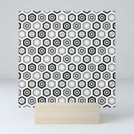 Hexagonal Nuts Mini Art Print