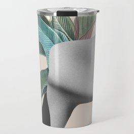 Floral Portrait /collage Travel Mug