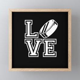 LOVE HOCKEY Framed Mini Art Print