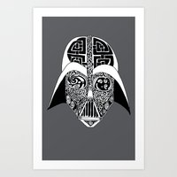 celtic Art Prints featuring Celtic Vader by ronnie mcneil