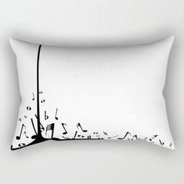 Pouring Musical Notes Rectangular Pillow