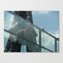 Inside Out Eiffel Tower Clouds, 2010 Canvas Print