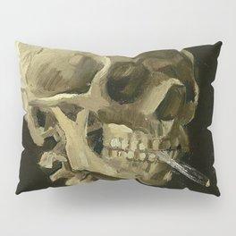 SKULL OF A SKELETON WITH BURNING CIGARETTE - VINCENT VAN GOGH Pillow Sham