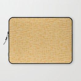 Woven Burlap Texture Seamless Vector Pattern Yellow Laptop Sleeve