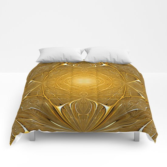 Gold ornament Comforters