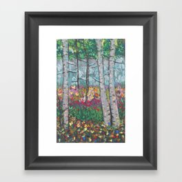 Four Seasons Birch Framed Art Print