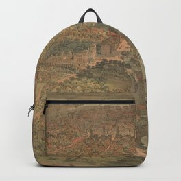 Vintage Pictorial Map of Hartford Connecticut (1864) Backpack