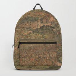 Vintage Pictorial Map of Hartford Connecticut (1864) Backpack