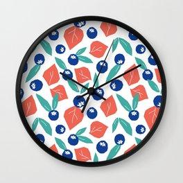 Blueberry jam Wall Clock