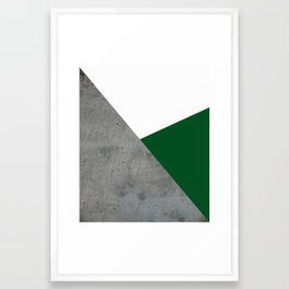 Concrete Festive Green White Framed Art Print