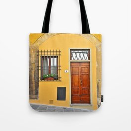 Italian Doorway, House Number 1 Tote Bag