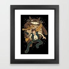 Ghibli Wars Framed Art Print