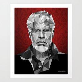 Ron Perlman low poly Art Print