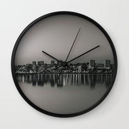 Porto in Black and White Wall Clock