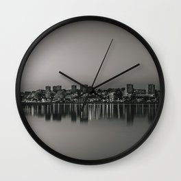 Porto in Black and White Wall Clock