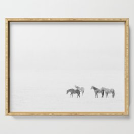 Snow Angels - Winter Horse Photography Serving Tray
