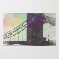 bridge Area & Throw Rugs featuring Bridge by Nechifor Ionut