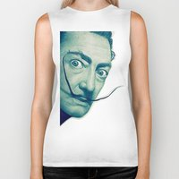 dali Biker Tanks featuring Dali by Fantastikat