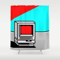 computer Shower Curtains featuring Computer I by noirlac