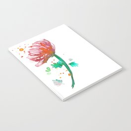 Warm Watercolour Fiordland Flower Notebook