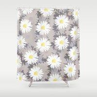 daisies Shower Curtains featuring Daisies by Georgiana Paraschiv