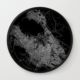 san jose map Wall Clock