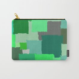 Green Patchwork Carry-All Pouch
