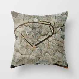 Egon Schiele - Autumn Tree In Stirred Air (Winter Tree) Throw Pillow