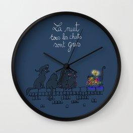 La nuit tous les chats sont gris Wall Clock