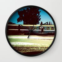 train Wall Clocks featuring Train by Ibbanez