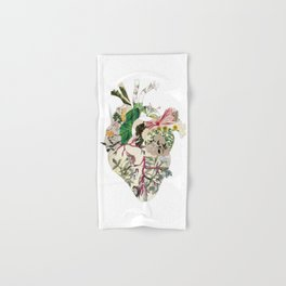 Vintage Botanical Heart Hand & Bath Towel