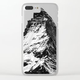 Matterhorn Mountain With Snow Clear iPhone Case