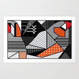 zebra finches Art Print