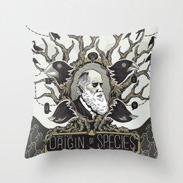 On the Origin of Species Throw Pillow