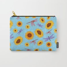 Sunflowers & Dragonflies Carry-All Pouch