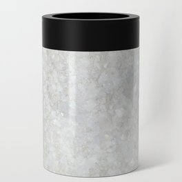 White Apophyllite Close-Up Crystal Can Cooler