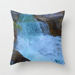 Beauty Creek & Stanley Falls in Jasper National Park, Canada Throw Pillow