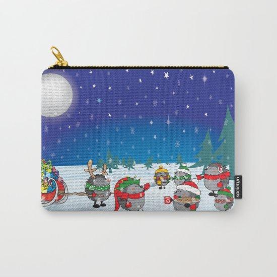 Hedgehog's Christmas magic Carry-All Pouch