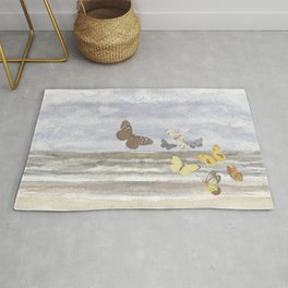 Butterfly escape Rug