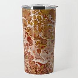 Penny Saved Red Fluid Acrylic Abstract Travel Mug