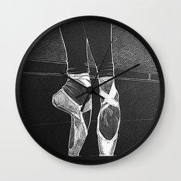 En pointe. Ballet rehearsal. Wall Clock