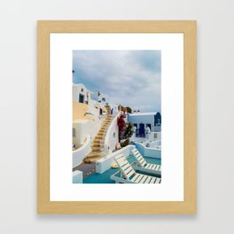 Imerovigli Santorini Framed Art Print