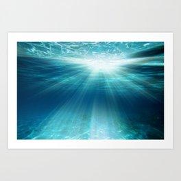 Light Rays Underwater Art Print