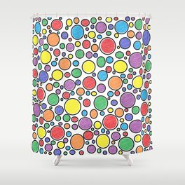 Colored Bubbles Shower Curtain