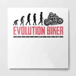 Evolution Biker Motorcycle Motorcyclist Metal Print