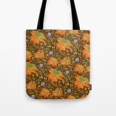 Green bird pattern Tote Bag