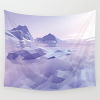 low poly Wall Tapestries featuring Low Poly Art by NewLineGraphics