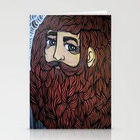 beard Stationery Cards featuring beard by Deerabigale