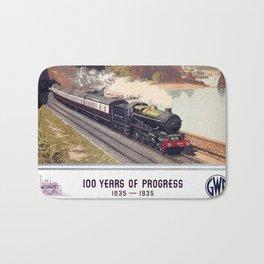 100 Years of Progress, 1835-1935. GWR Vintage Travel Poster Bath Mat